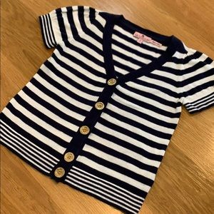 Juicy Couture Classic Stripe Cardigan Sweater Sz 7